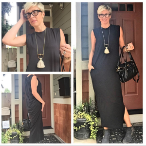 Black Ottod'Ame Maxi Dress